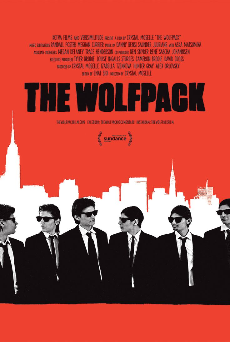 The Wolfpack, Crystal Moselle documentary examining six brothers in Manhattan focusing on their blending of cinema, fashion & distanced perception of outside world, Sundance Film Fest Grand Jury Prize, 2015.