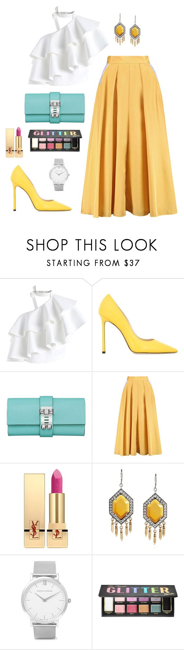 """Untitled #301"" by bajka2468 on Polyvore featuring Chicwish, Jimmy Choo, Roksanda, Yves Saint Laurent, Larsson & Jennings and Sephora Collection"