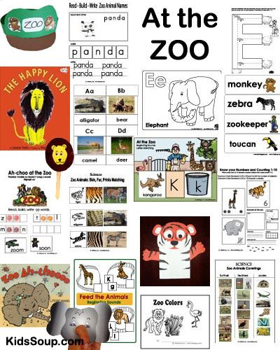 At the Zoo new zoo animal crafts, zoo activities, zoo folder games, zoo coloring pages at KidsSoup