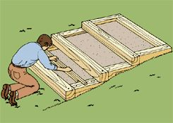 DIY plans for lanscape steps up a slope.