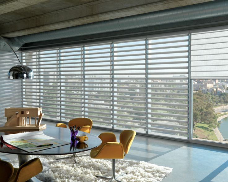 Retain your view, filter the UV with these stunning Luxaflex® Pirouette® Shadings