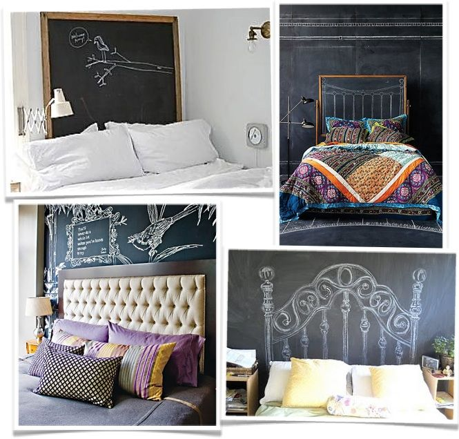 chalkboard headboards, i'm stoked to change it every day!
