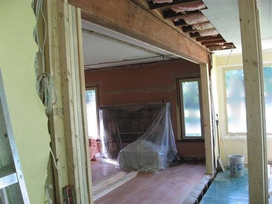 Great Example Of Header Beam For A New Doorway In A Load