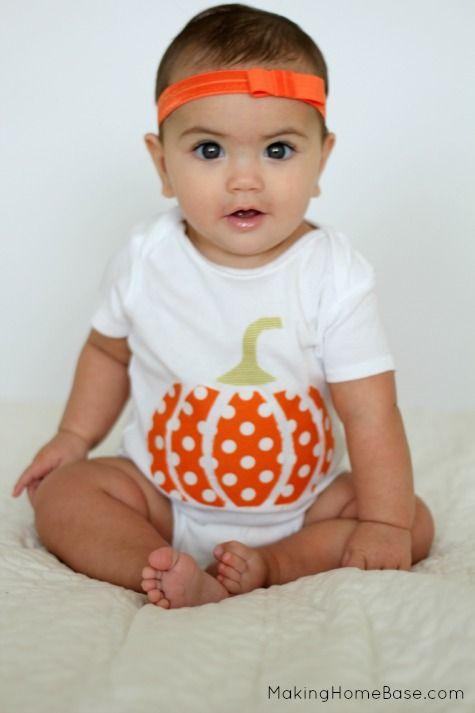 Pumpkin Applique Onesie Tutorial - Perfect for Halloween