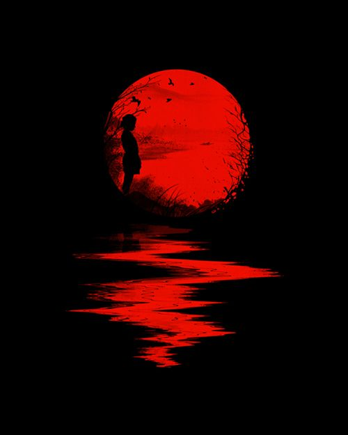 Red moon.