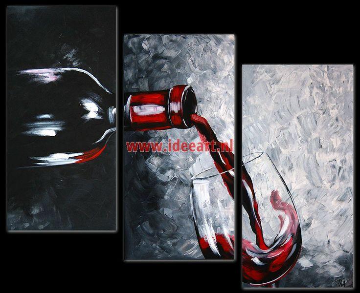 schilderij wijnfles