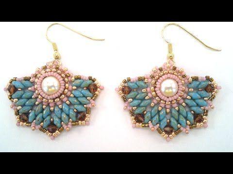 Beading4perfectionists: Art Deco stylish earrings beading tutorial – YouTube