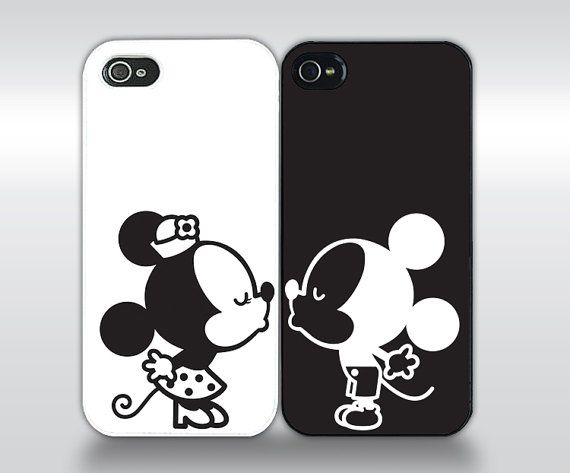 Couple Kissing  Matching Phone Case Set by studioNdesigns on Etsy