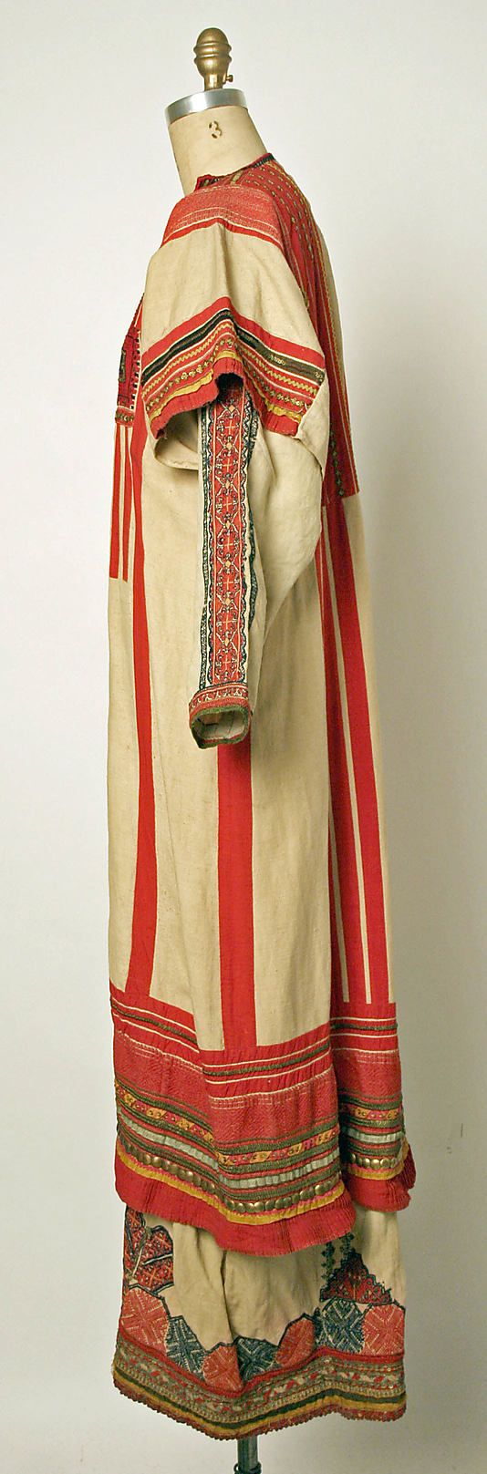 Ensemble Date: 19th century Culture: Russian Medium: (a) linen (b, d) cotton (c, f, g, h, i) wool