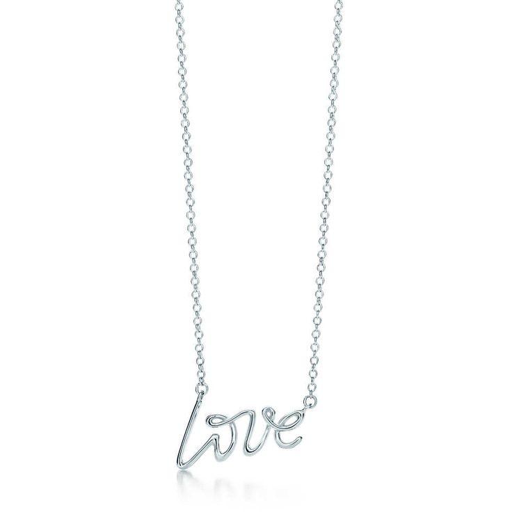 Paloma Picasso® Love pendant in sterling silver, mini. | Tiffany & Co.