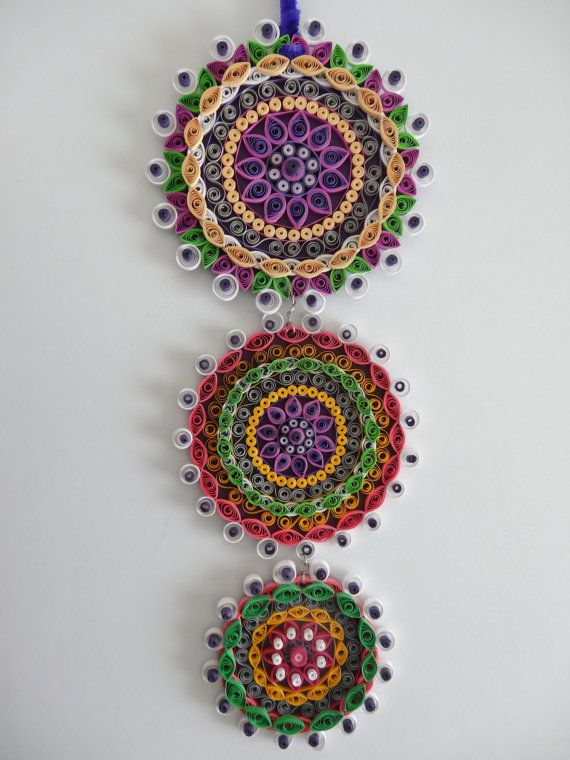 Purple Themed Floral Paper Quilled Wall Hanging/decoration/art/decal For Home  Decor