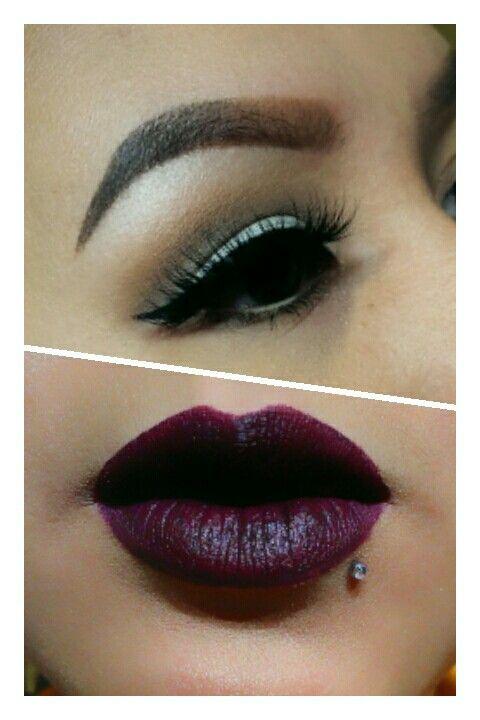 Big lashes vampy lips