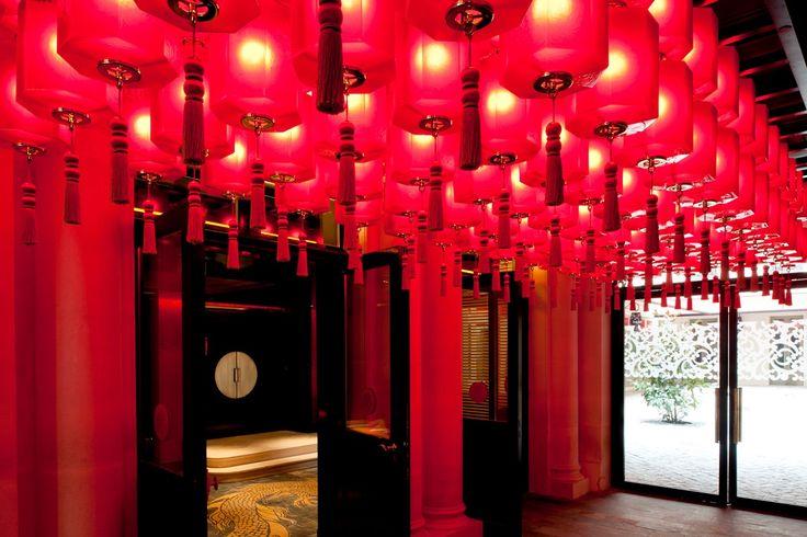 #Buddha Bar Paris hotel lobby.