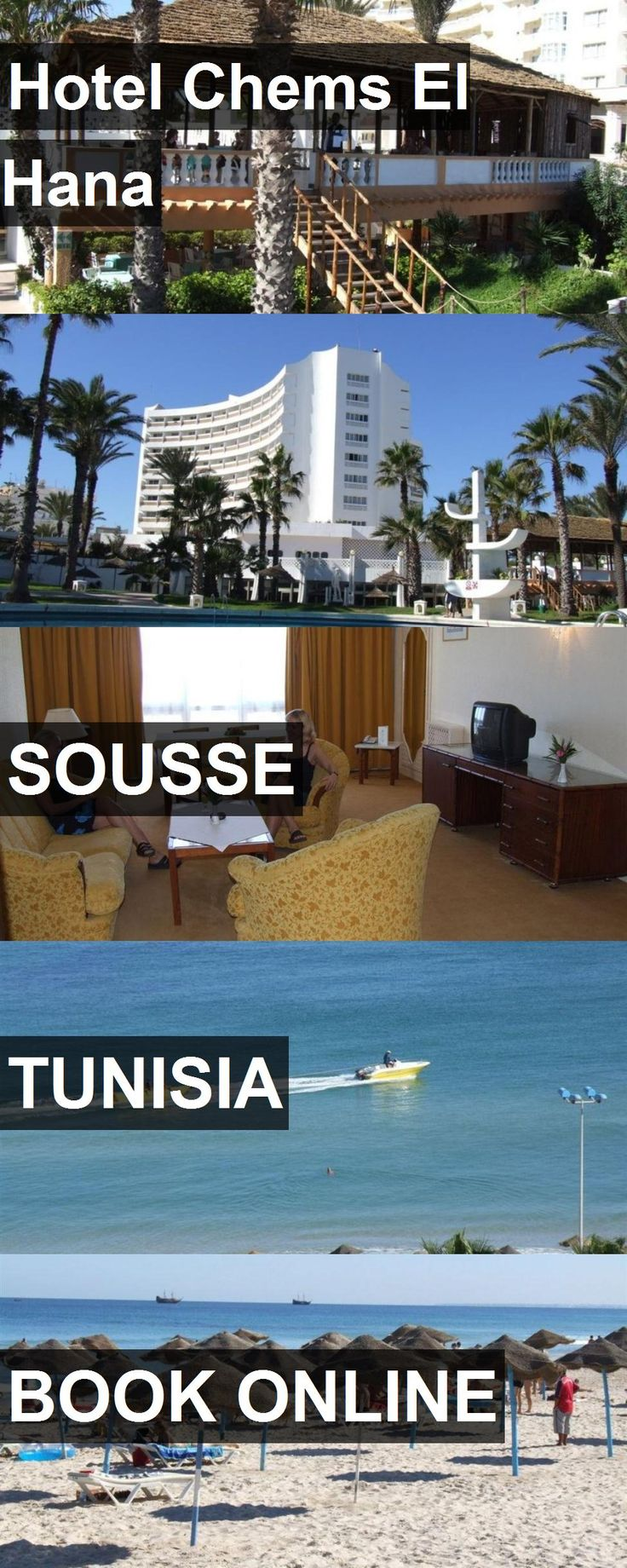 Hotel Chems El Hana in Sousse, Tunisia. For more information, photos, reviews and best prices please follow the link. #Tunisia #Sousse #travel #vacation #hotel