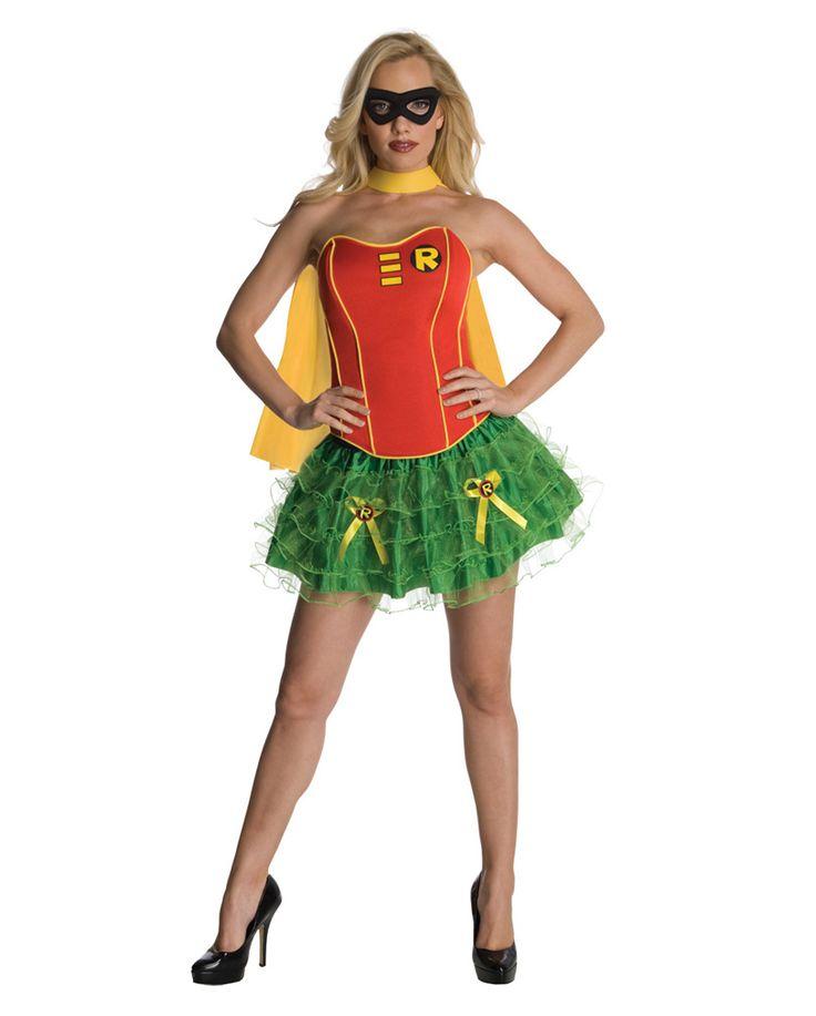 Robin Corsagen Kostüm   Sexy Batman Gehilfin   horror-shop.com #Robin #Batman #Superhero #Superheroine