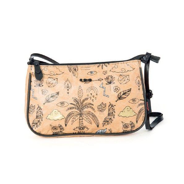 Een hip schoudertasje van Skunkfunk met een decoratieve print met gouden en zilveren details. ✓ Voor 21.00 uur besteld, morgen in huis.