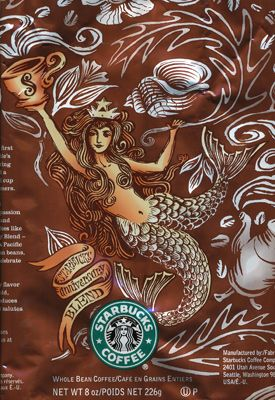 one of the newer coffee bags that has image of original mermaid