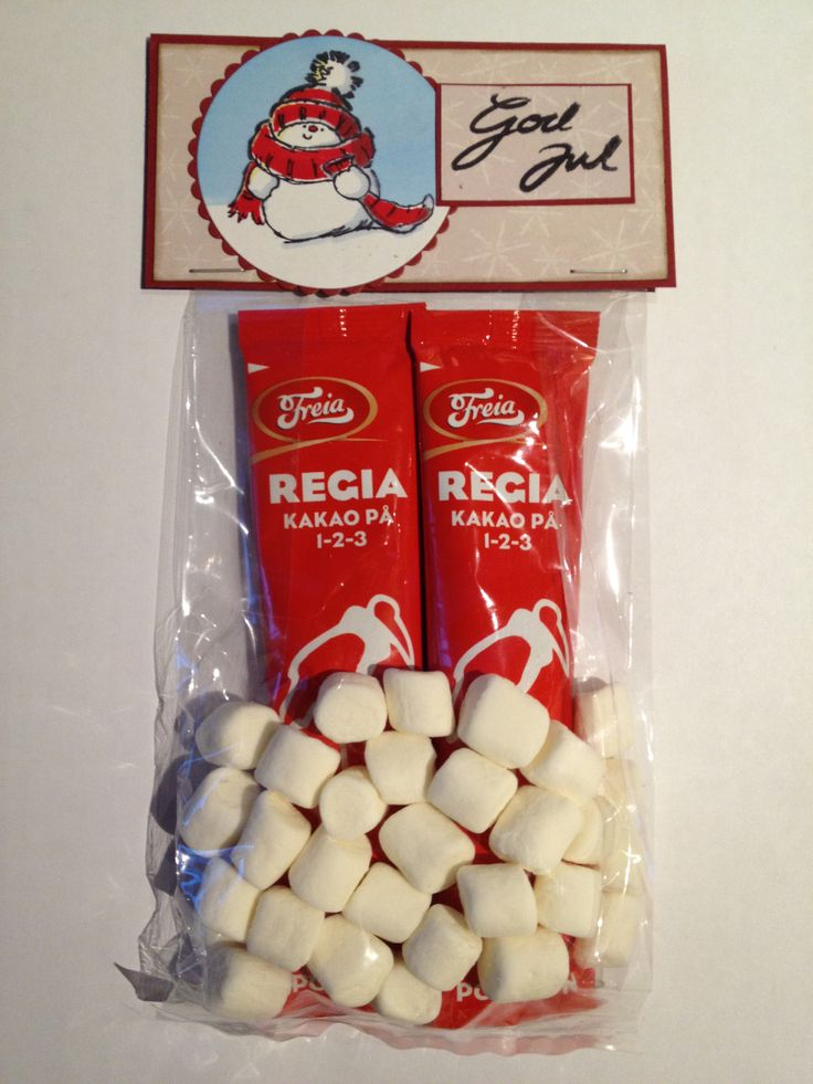 Hot chocolate with marshmallows gift Merry Christmas / God Jul