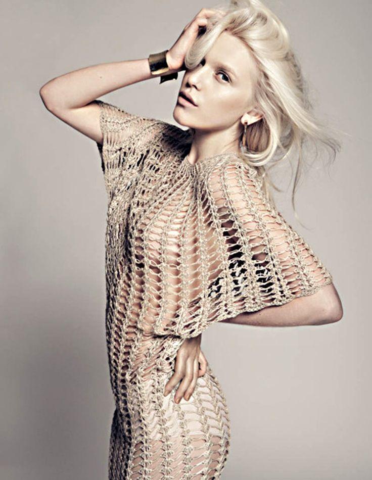 Knitted Dress......<3     Felicia Karlahag by Fredrik Wannerstedt
