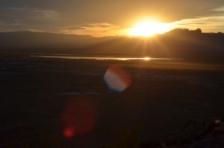 Death Valley Sunset - Framed Poster from Print Canvas