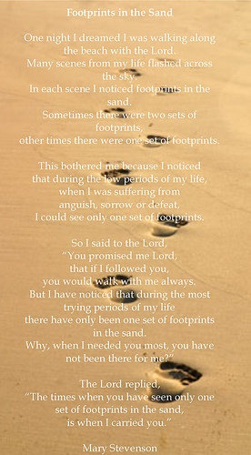 37 best Footprints images on Pinterest | Footprints in the sand poem ...