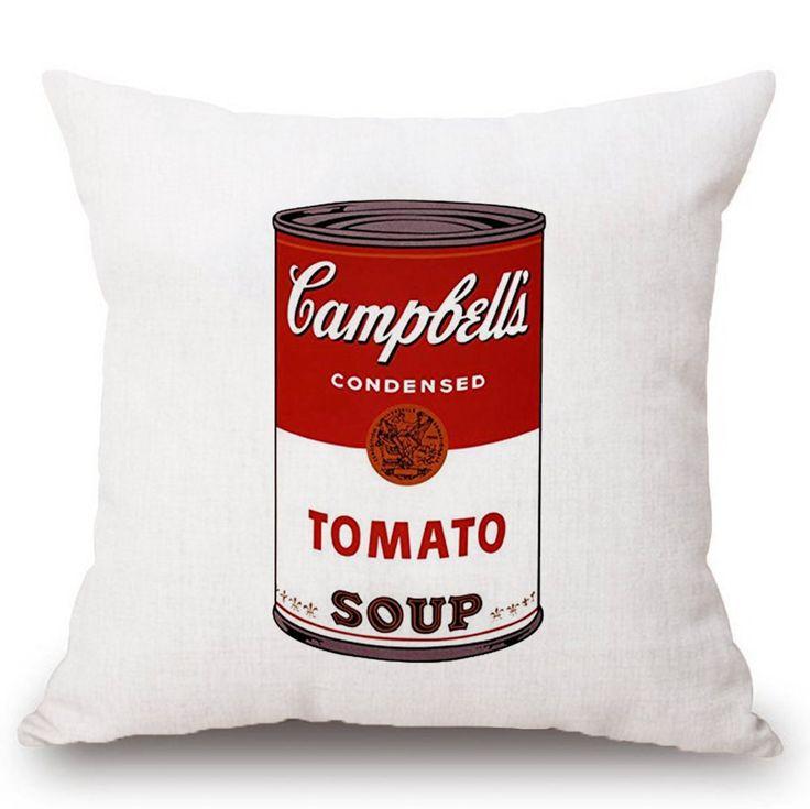 Tomato Soup Pop Art Pillowcase in 2020
