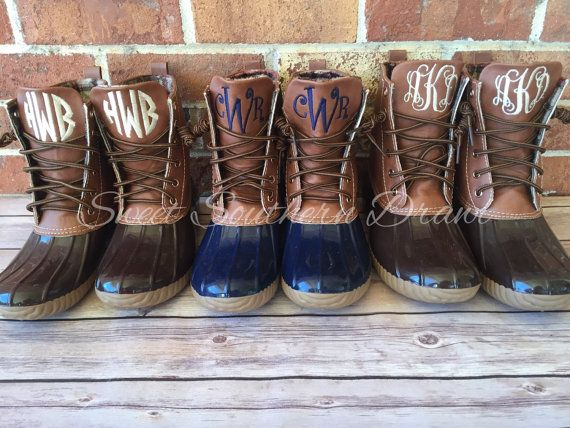 8199f4e75ef Monogrammed Duck Boots 9 NEW Colors by ASweetSouthernDrawl ...