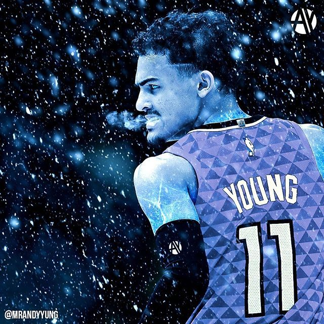 """Andy Yung on Instagram: """"A storm's coming... ❄️ @traeyoung @atlhawks  #KeepThatSameEnergy Wallpaper available on my story! Wa… 
