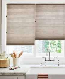 honeycomb shades in a kitchen are safe and block light #honeycomb #homedecor #smithandnoble