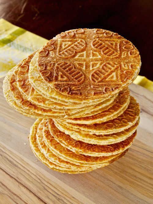Stroopwafel -- or waffles with syrup, a Dutch cookie I used to eat ALL THE TIME when I was a kid. (Don't soak 'em in milk for too long; you will regret it.)