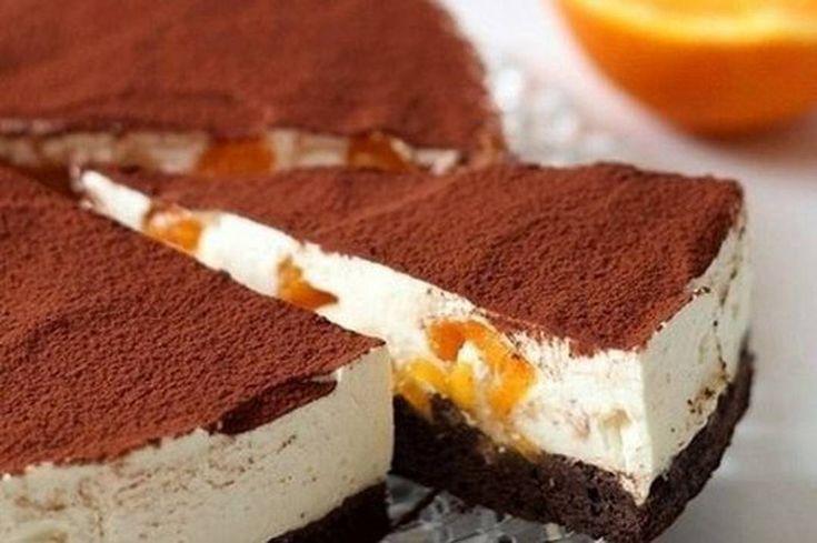 Супер-идея — торт-тирамису с апельсинами и темным шоколадом
