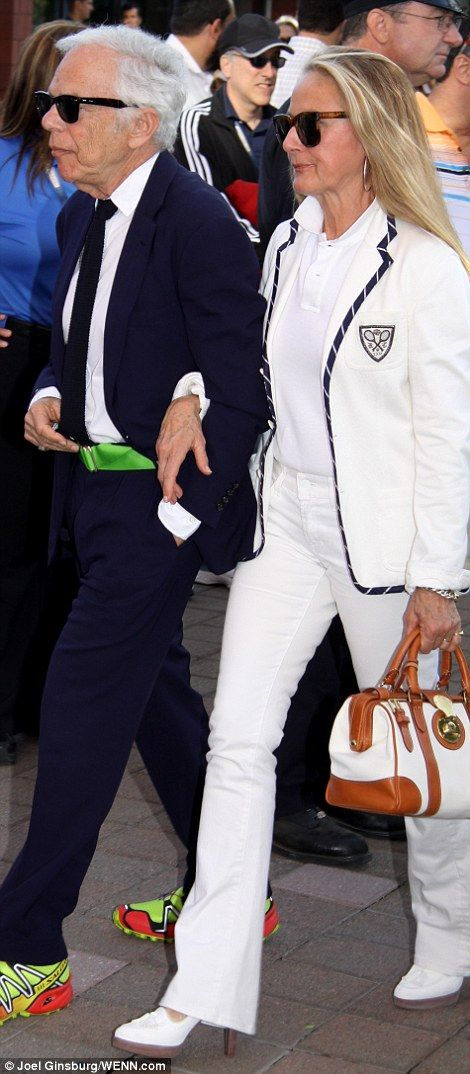 Ralph Lauren and his wife Ricky Anne Loew-Beer