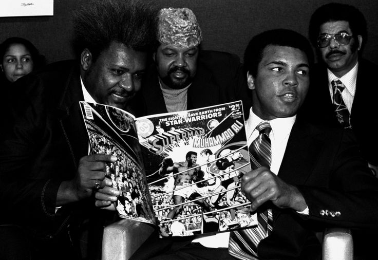 Muhammad Ali was something of a superhero in the 60s and 1970s,  here he takes a peek at his own battle with the Man of Steel...