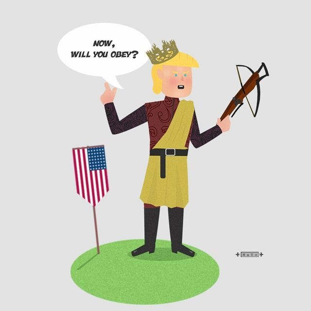 Donald Trump - king Joffrey - Game of thrones