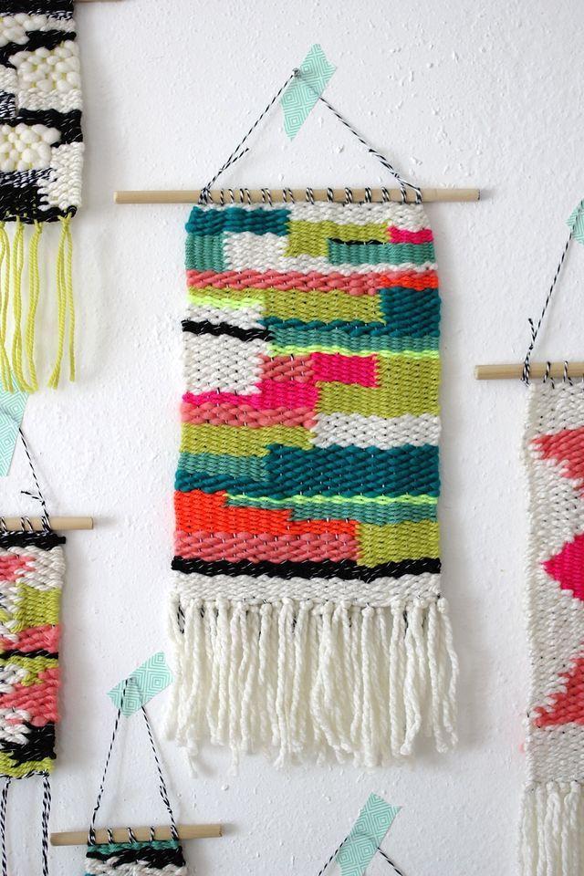 A Sunday Weaving by Rachel Denbow #weaving #wallhanging #modern