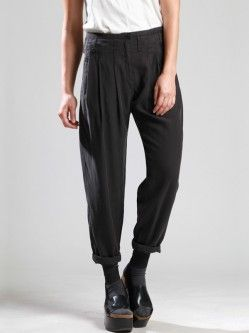 LYOCELL PLEATED TROUSERS