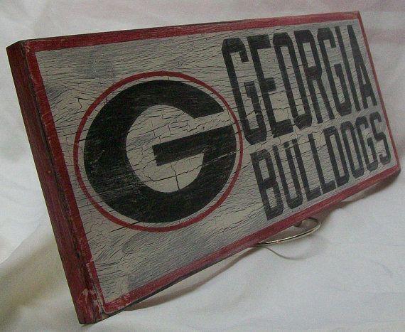 Georgia Bulldogs wall sign 6 1 2 x 17 by Bobsvintagesigns on Etsy   25 00. 12 best boys georgia bedroom ideas images on Pinterest   Georgia