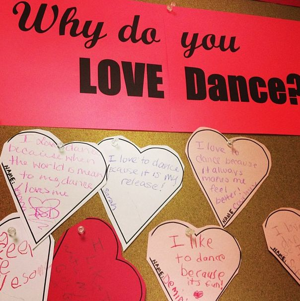 "I thought this said ""Why do you love dance?"" and I thought this would be nice for dance camp."