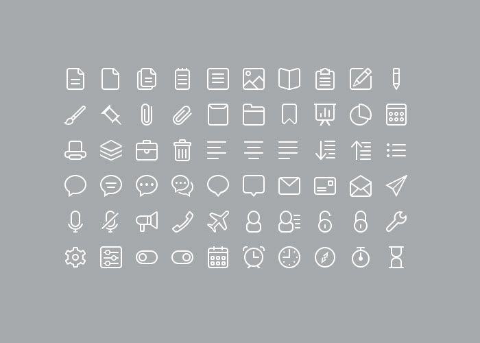 220 Minimal Icons Set Free PSD