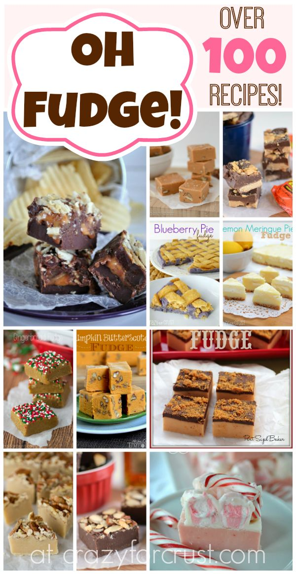 Oh Fudge! Over 100 Fudge Recipes at crazyforcrust.com
