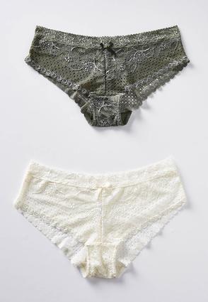 Plus Size Olive And Ivory Lace Panty Set Intimates Cato Fashions ... 2c4425eaf