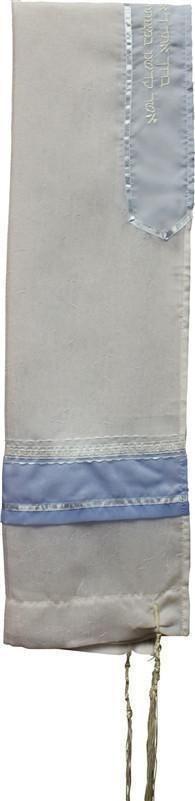 Tallit Sheer Light Blue/White