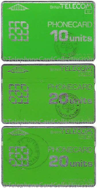 Hand Stamped Prison BT Phonecards from the 1980s.