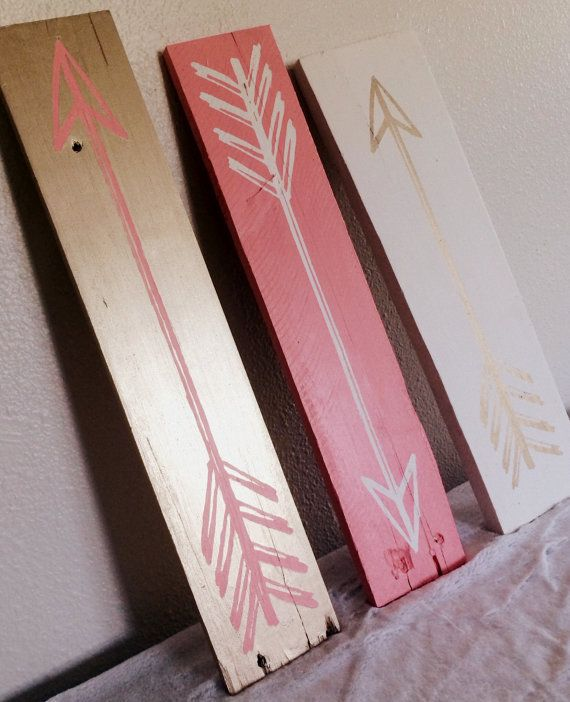 Show off your style with this adorable set of three vintage arrow signs! They are a perfect accent in any room in your home! This made to