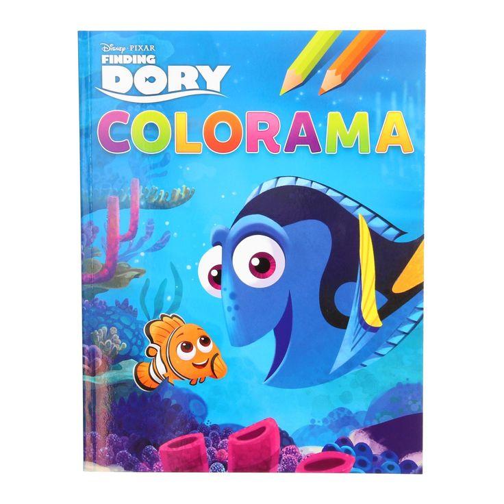 De schattige Dory schittert in de nieuwste Disney Pixar film Finding Dory. Je kent vast wel haar prachtige kleuren, net als die van haar zeevrienden. Die kun jij inkleuren in dit Finding Dory Colorama kleurboek. - Finding Dory Colorama