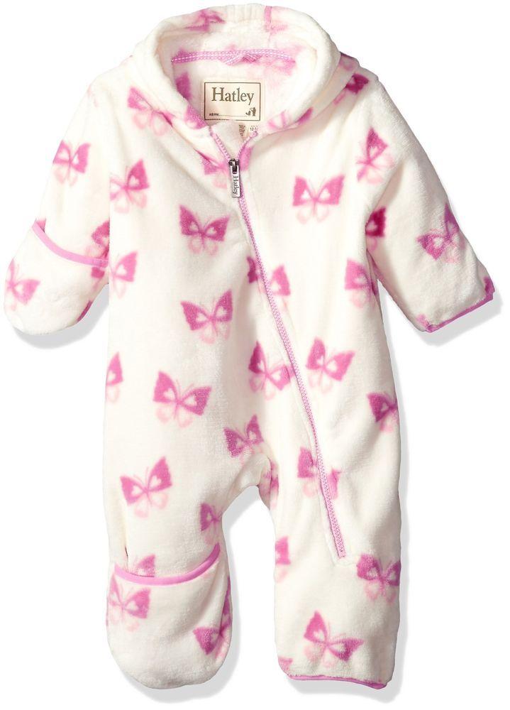b471487fa172 Hatley Baby Girls Mini Fuzzy Fleece Bundlers Delightful Butterflies ...