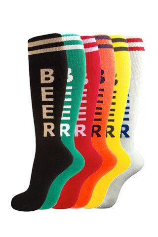 A Six Pack of Beer (Socks). Beer is always better in sixes.