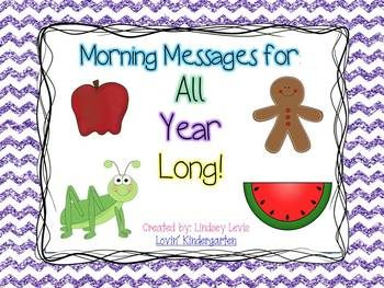 Morning Messages All Year Long! 48 weeks of thematic morning messages. Great time saver and easy use with journals.