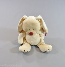 Doudou Lapin chien beige rouge Nicotoy N.V. Simba Dickie 25 cm