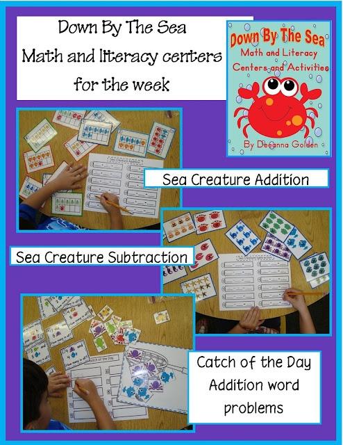 Math and Literacy centers and activitiesGang Kindergarten, Ocean Theme, Math Center, Sea Creatures, Golden Gang, Literacy Center, Ocean United, Kindergarten Rocks, The Sea